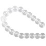 "Crystal Quartz Round Beads 8mm (15"" Strand)"