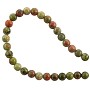 "Unakite 4mm Round Beads (15.5"" Strand)"