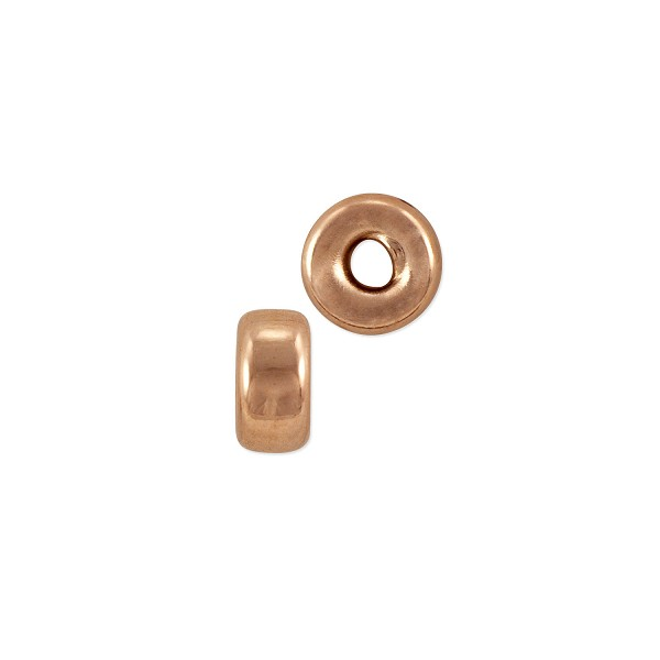 Rondelle Bead 4x2mm Rose Gold Filled (1-Pc)