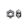 Bali Style Flower Bead 7x4mm Sterling Silver (1-Pc)
