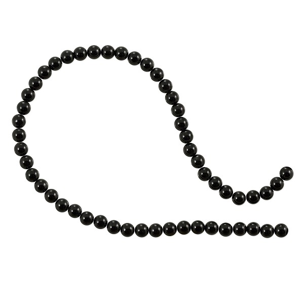 "Black Agate Round Beads 4mm (16"" Strand)"