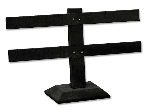 Black Earring Stand T-Bar 8-Pairs