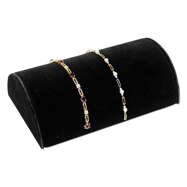 "Jewelry Display Hump for Bracelets Black 8""Wide"