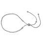 "9"" Sterling Silver Adjustable 2.5mm Moon Bead Bracelet"