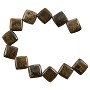 "10 Strands of Bronzite Puffed Kite Beads 10mm (8"" Strand)"