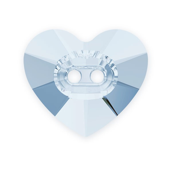 Swarovski Heart Button 3023 14mm Crystal Blue Shade (1-Pc)
