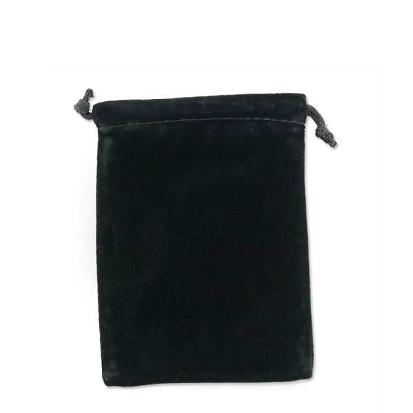 "Velvet Drawstring Pouch 2-3/4"" x 3"" Black (Each)"