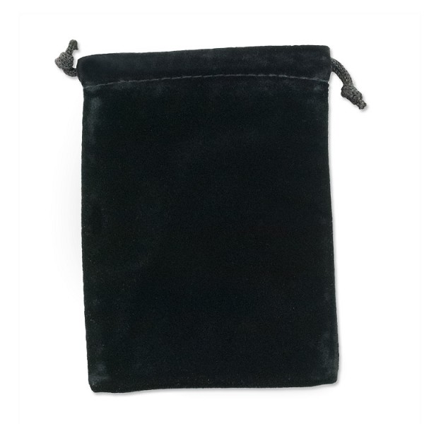 "Velvet Drawstring Pouch 4x5"" Black (Each)"