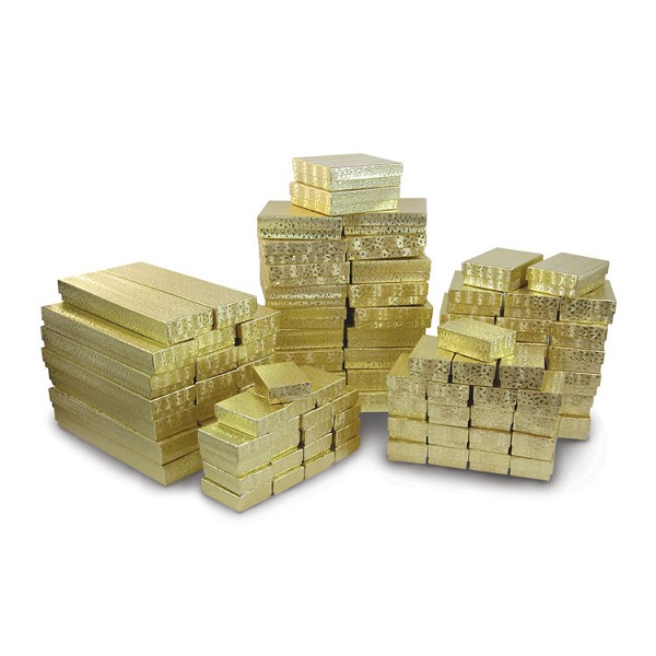 Jewelry Boxes Assortment Gold (100-Pcs)