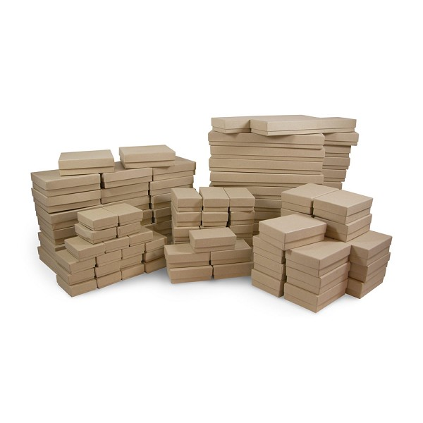 Jewelry Boxes Assortment Kraft (100-Pcs)