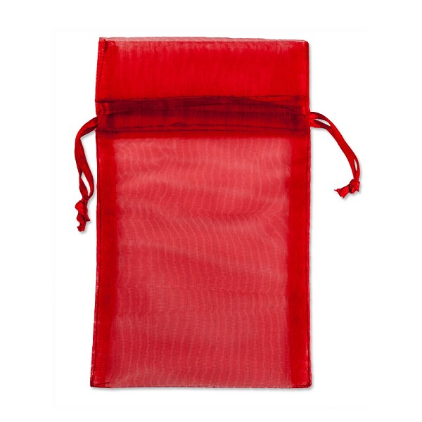 "Organza Pouch 1-3/4""x3"" Red (12-Pcs)"