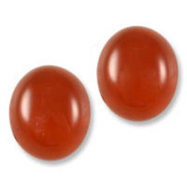 Red Agate Cabochon 12x10mm