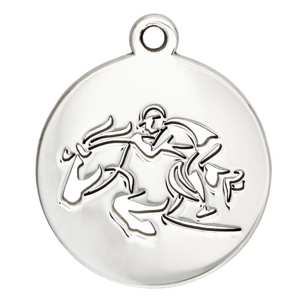 Horse Jumper Charm 17mm Sterling Silver (1-Pc)