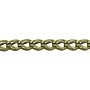 Fox Chain 7x5mm Antique Brass Plated (Priced per Foot)