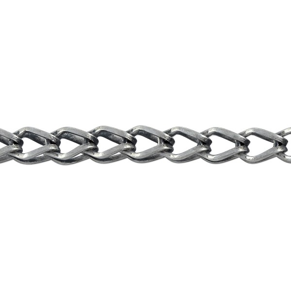 Fox Chain 7x5mm Antique Silver Plated (Priced per Foot)
