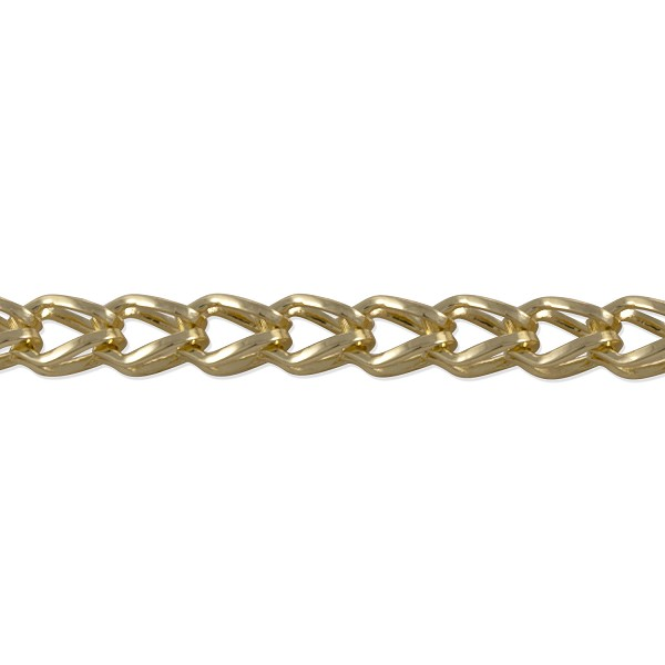Fox Chain 7x5mm Gold Plated (Priced per Foot)