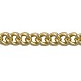 Rounded Curb Chain 5.6x4.2mm Gold Plated (Priced per Foot)
