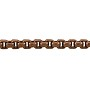 Venetian Box Chain 3mm Antique Copper Plated (Priced per Foot)
