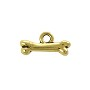 TierraCast Bone Charm - 16x7.5mm Antique Gold Plated (1-Pc)