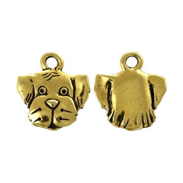 TierraCast Spot Charm - 16.5mm Antique Gold Plated (1-Pc)