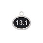 13.1 Half Mile Marathon Charm 12mm Sterling Silver (1-Pc)