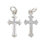 Small Cross Charm 16.5x9mm Sterling Silver (1-Pc)