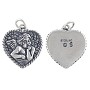 Angel Charm 18.5x17mm Sterling Silver (1-Pc)