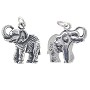 Elephant Charm 18mm Sterling Silver (1-Pc)