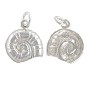 Nautilus Shell Charm 14x12.5mm Sterling Silver (1-Pc)
