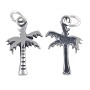 Palm Tree Charm - 16x11mm Sterling Silver (1-Pc)