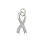 Ribbon Charm - 9x6.5mm Sterling Silver (1-Pc)