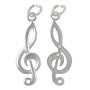 Treble Clef Charm - 24x8mm Sterling Silver (1-Pc)