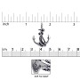Anchor Charm 27x20mm Sterling Silver (1-Pc)