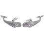 Whale Charm 8x21mm Sterling Silver (1-Pc)