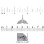Whale Tail Charm 18x21mm Sterling Silver (1-Pc)
