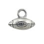 Football Charm 11x13mm Pewter Antique Silver Plated (1-Pc)
