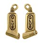 Glue Charm 20x10mm Pewter Antique Gold Plated (1-Pc)