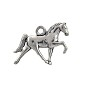 Horse Charm 16x21mm Pewter Antique Silver Plated (1-Pc)