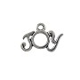 Joy Charm 12x18mm Pewter Antique Silver Plated (1-Pc)