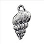Nassa Shell Charm 18x10mm Pewter Antique Silver Plated (1-Pc)