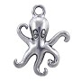 Octopus Charm 20x16mm Pewter Antique Silver Plated (1-Pc)