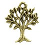 Tree of Life Charm 20x17mm Pewter Antique Gold Plated (1-Pc)