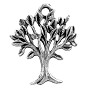 Tree of Life Charm 20x17mm Pewter Antique Silver Plated (1-Pc)
