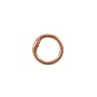 8mm Copper Round Closed Jump Ring (10-Pcs)