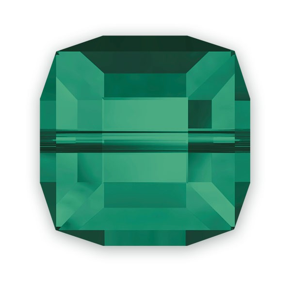 Swarovski Crystal 5601 8mm Emerald Cube Bead (1-Pc)