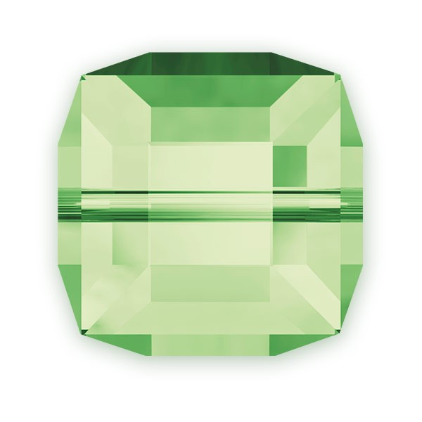 Swarovski Crystal 5601 6mm Peridot Cube Bead (1-Pc)