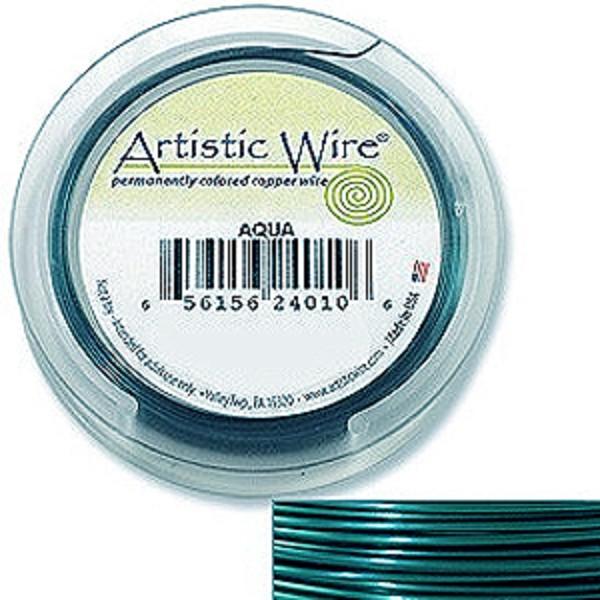 Artistic Wire Spools 24 Gauge 20yd Aqua