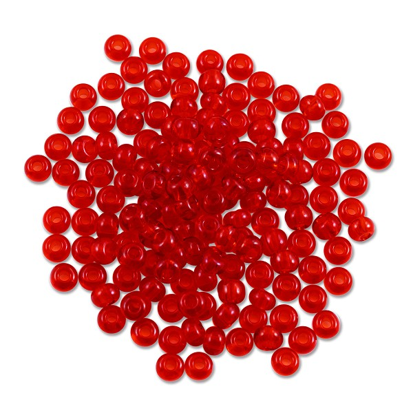 Preciosa Czech Seed Bead 6/0 Transparent Ruby (10 Grams)