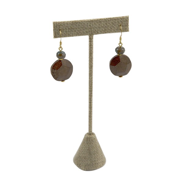 Burlap Earring T Bar Display 5-3/4""