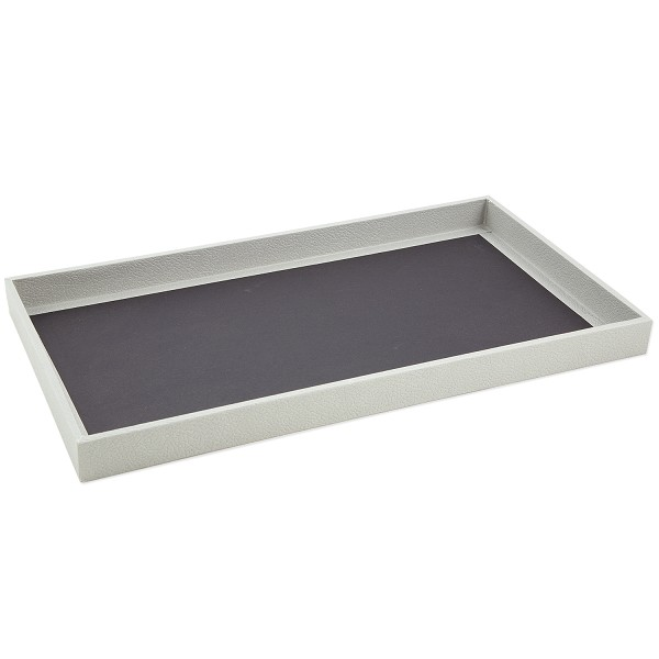 1 Inch Tall Standard Size Grey Jewelry Tray